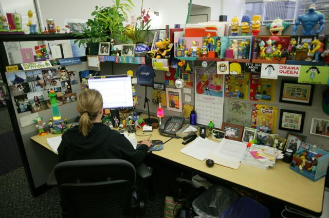 """Un """"cube"""" dans les bureaux de Mountain View."""