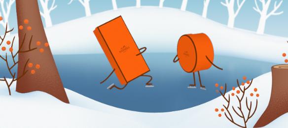 """Les """"Orange Boxes"""" de Hermès"""
