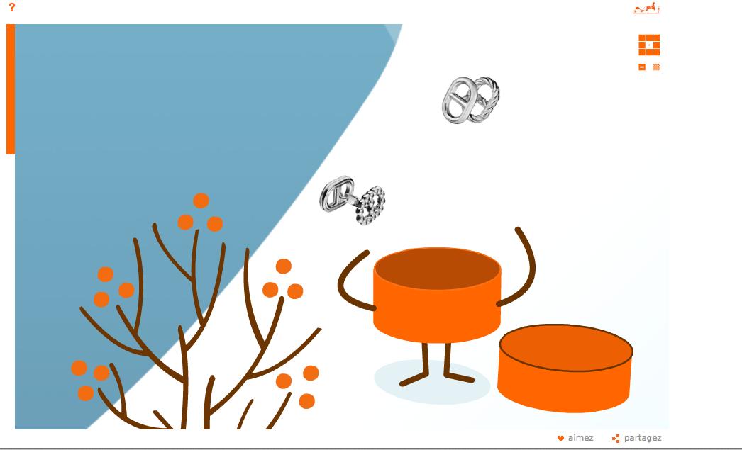 Une animation pour nous présenter le produit Hermès du jours