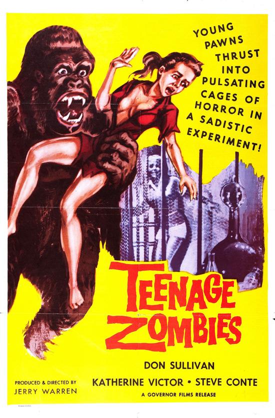 Affiche d'un film d'horreur des années 50.