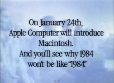 Apple se voulait être l'anti Big Brother.