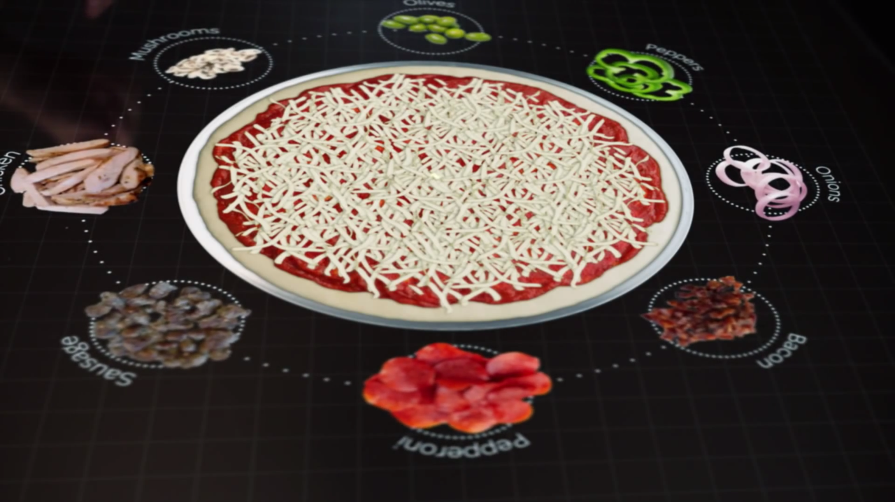 table interactive pizza hut2