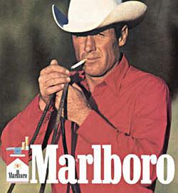 Les hommes qui se respectent fument (tel est le message subliminal).
