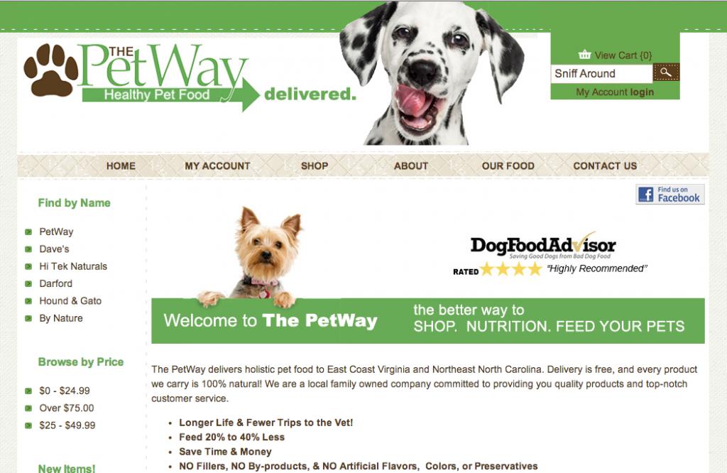 Capture écran du site The Petway
