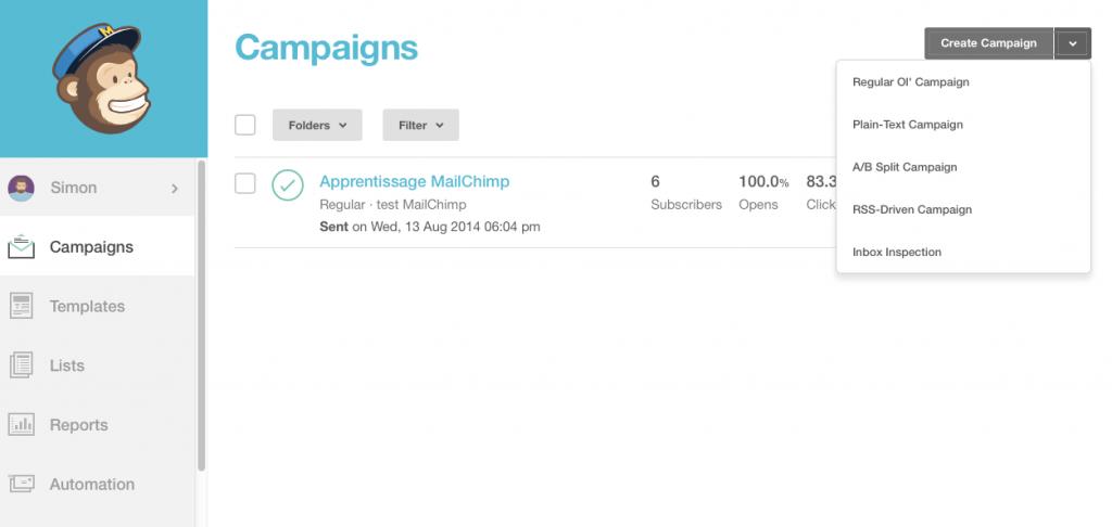 Pilotage d'une campagne e-mailing