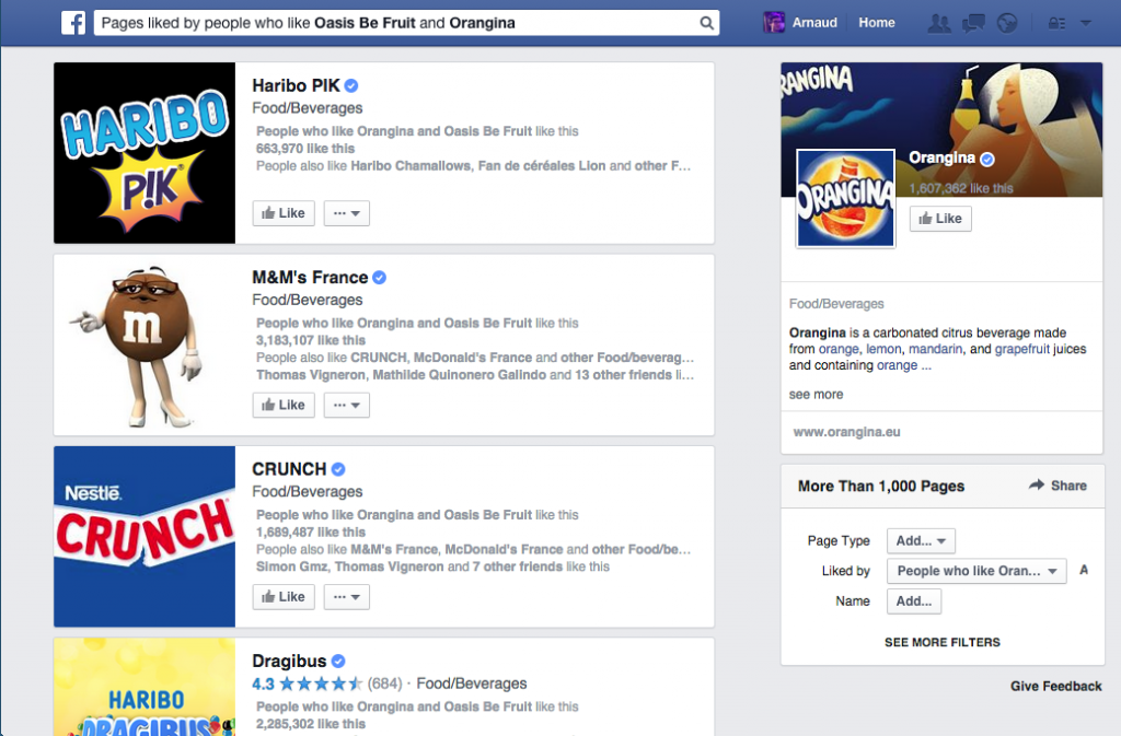 Facebook Graph Search concurrents