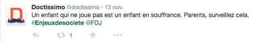 Tweet @Doctissimo - Enjeux de société