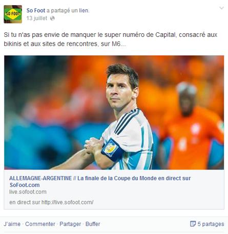So Foot et ses posts teintés d'humour durant le coupe du monde de football
