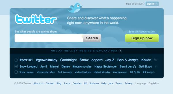 twitter septembre 2009
