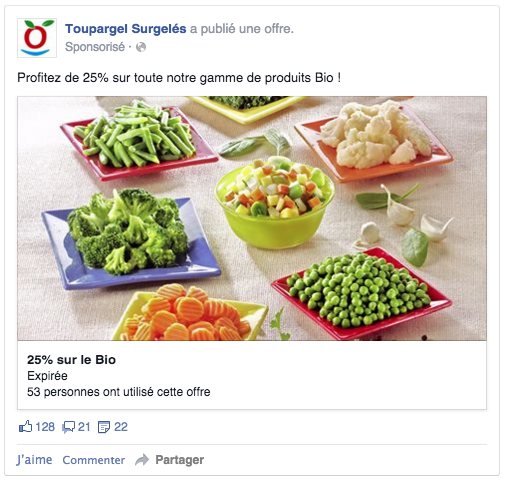 Facebook ads promotion offres commerciales