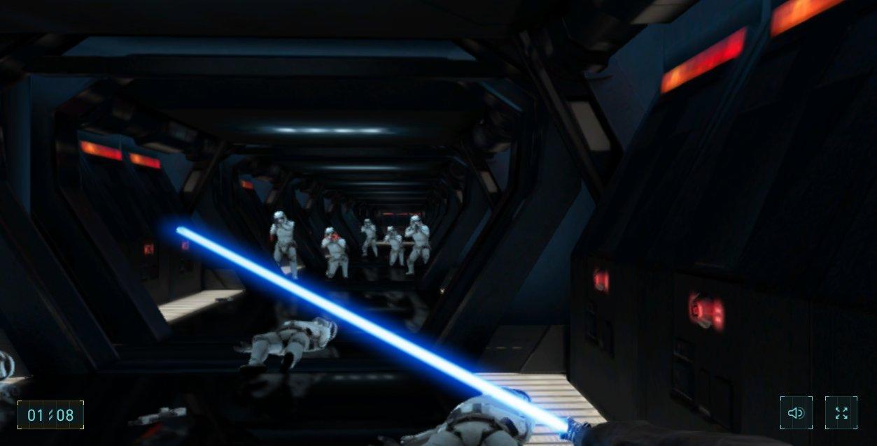 star wars jeu google chrome sabre laser