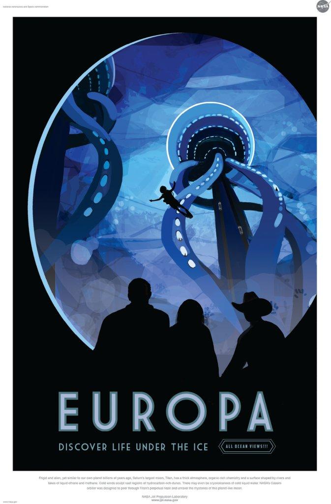 Affiche Nasa Europa