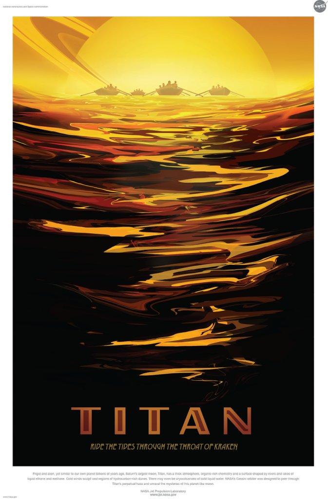 Affiche Nasa Titan