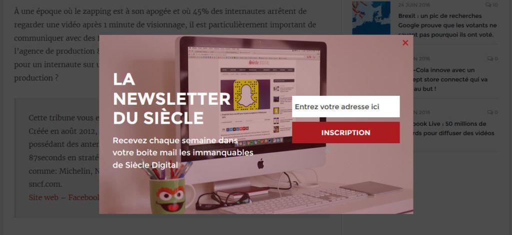 promouvoir un blog avec une newsletter