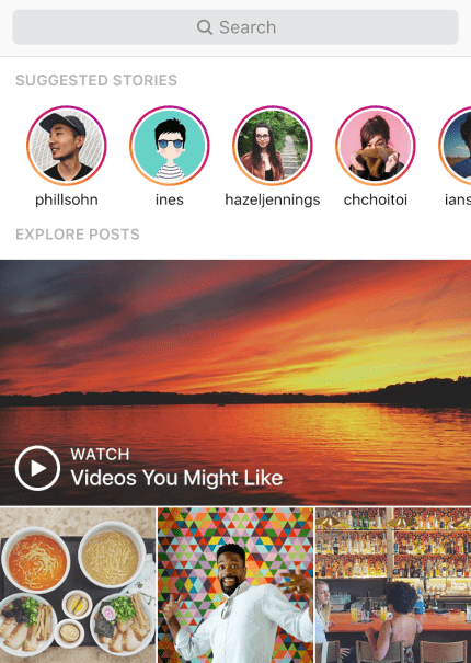 Instagram stories explorer