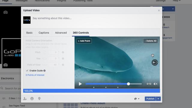 Facebook guide video 360