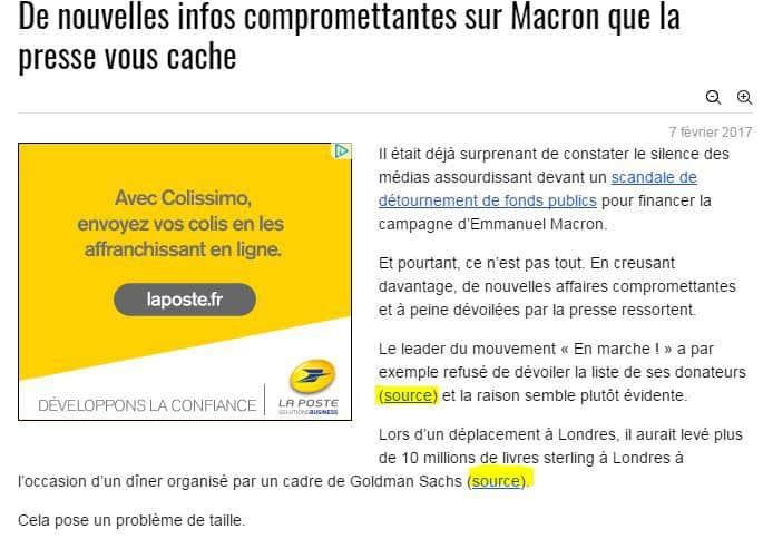 detournement - fake news - Macron - Siècle Digital