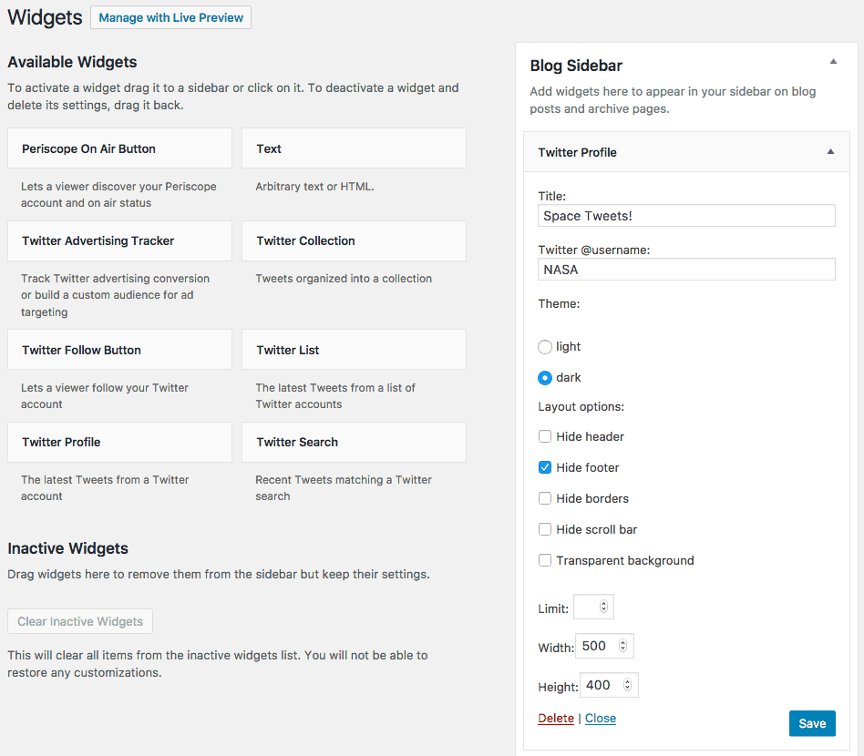 plugin wordpress twitter