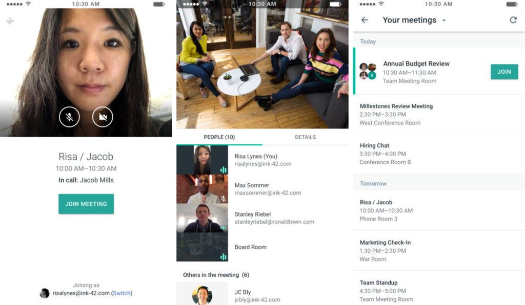 Google application Meet
