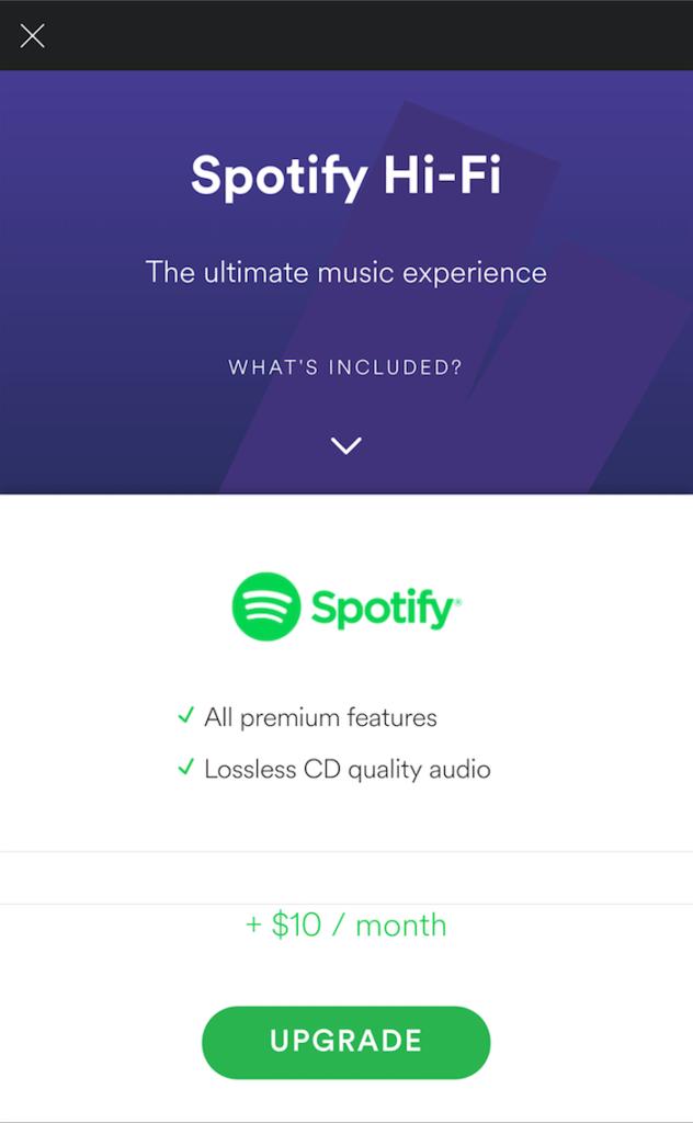 offre spotify hi-fi