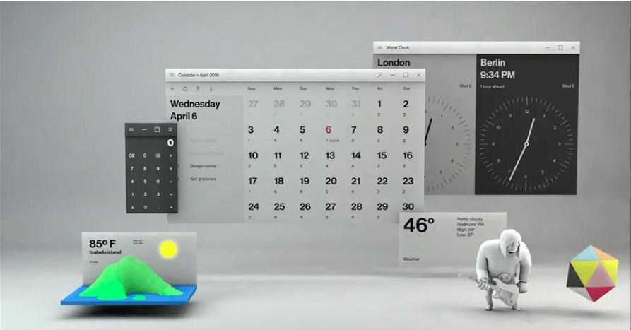 Bureau Fluent Design Microsoft