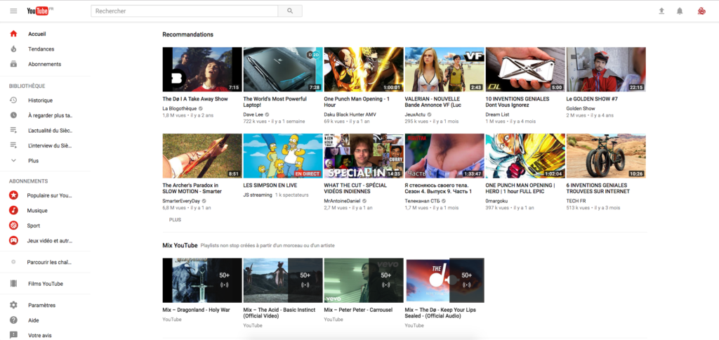 nouveau design youtube