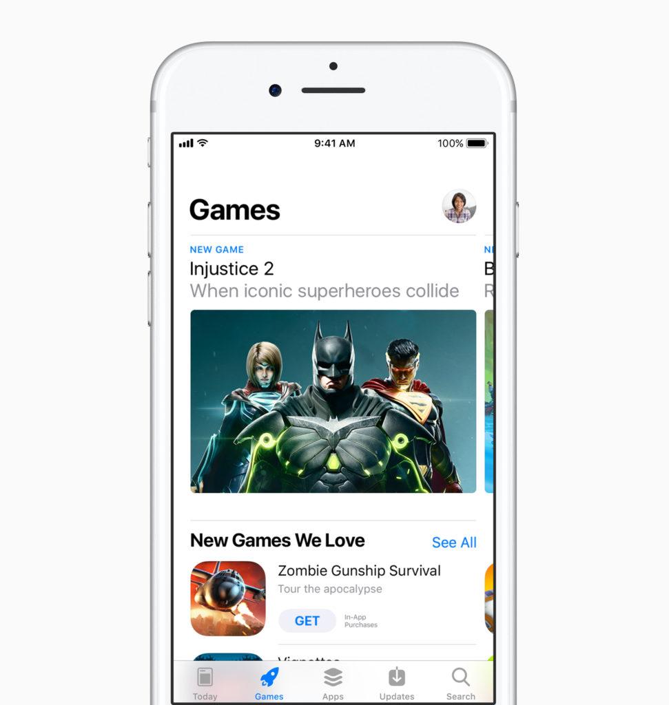 jeux video sur l'App Store