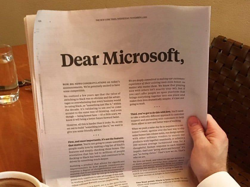 Dear Microsoft Slack
