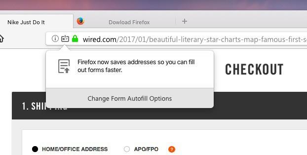 Autocomplétion Mozilla Firefox