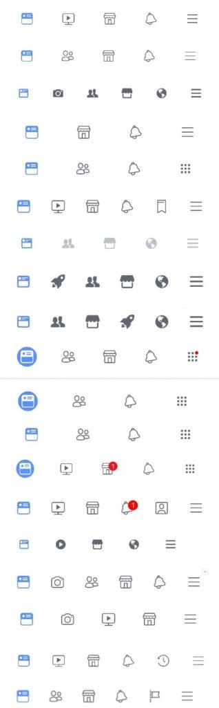 Navigation bar de facebook