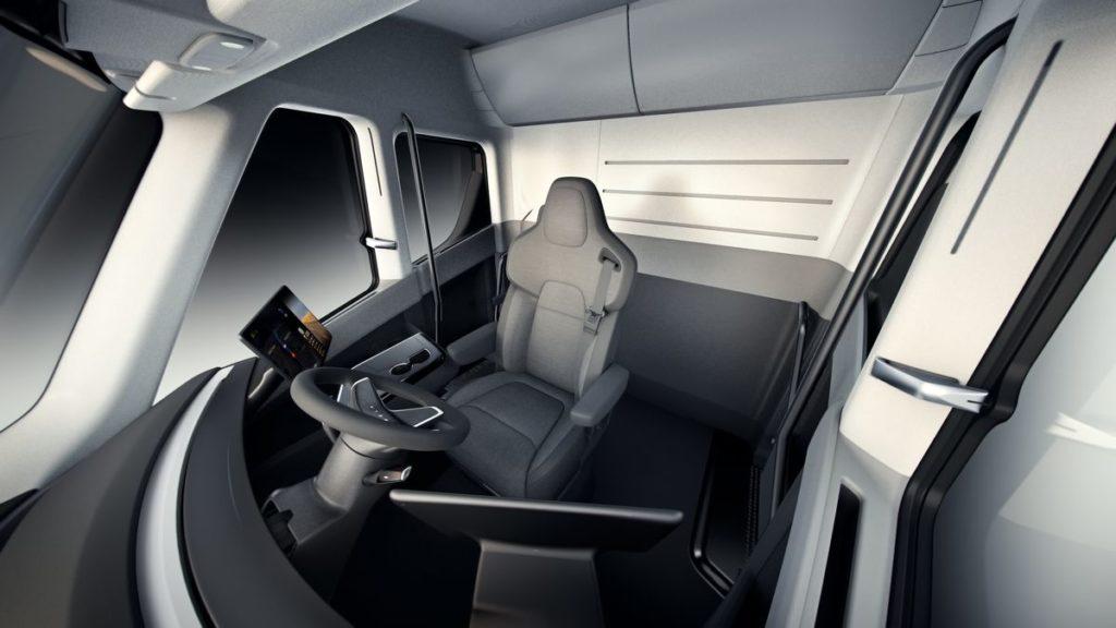 Tesla camion intérieur