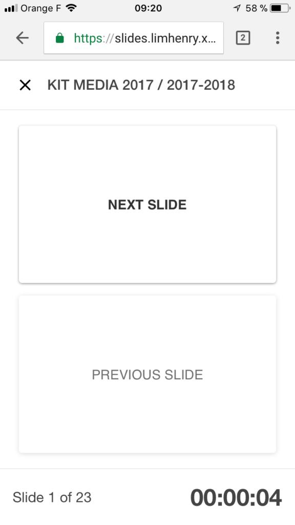 télécommande smartphone google slides pour chrome