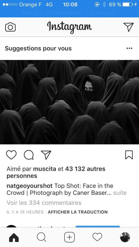 instagram déploie les suggestions de publication