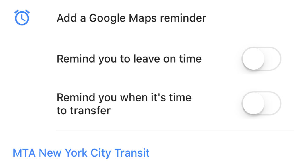 notification google maps