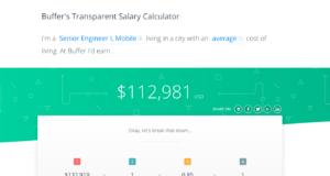 "Aperçu du ""Buffer's Transparent Salary Calculator"""
