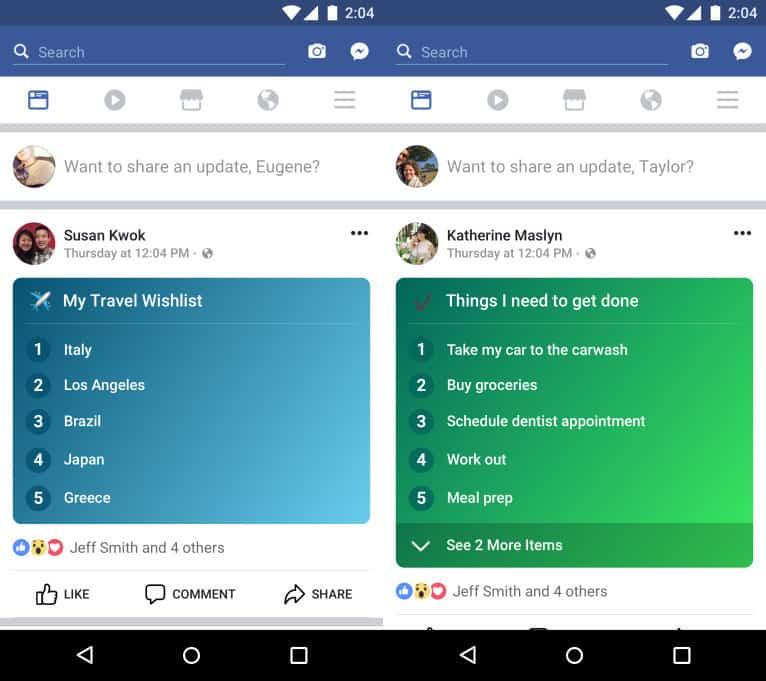 La nouvelle fonctionnalité de Facebook : Lists