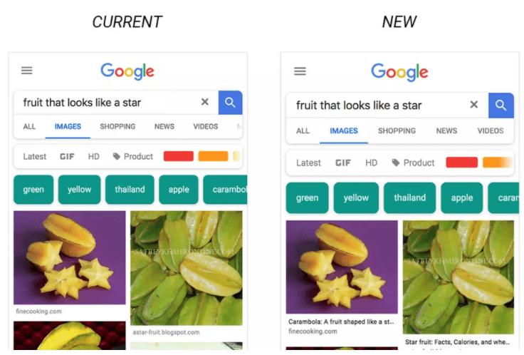 Google Image avec légende