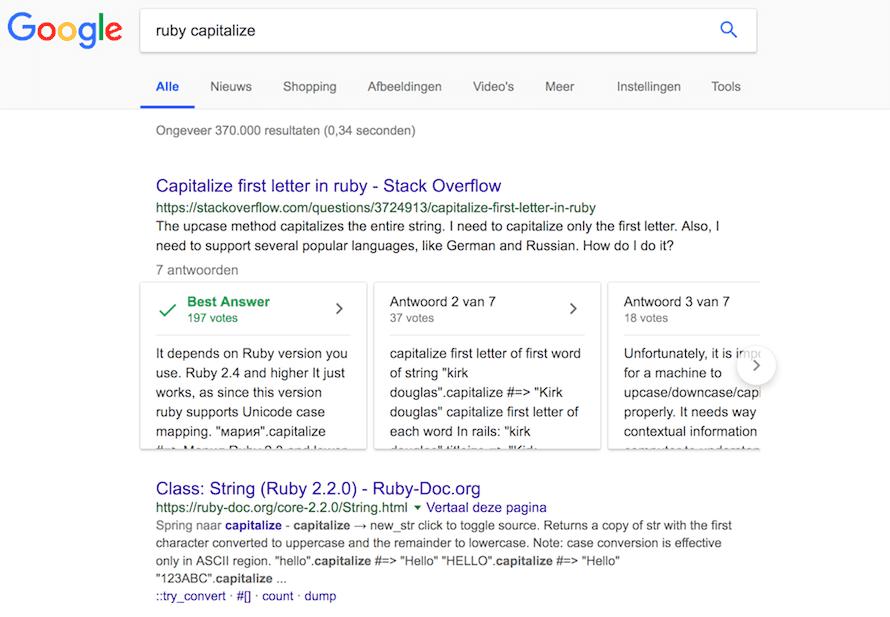 Google donne un aperçu des réponses sur le site Stack Overflow