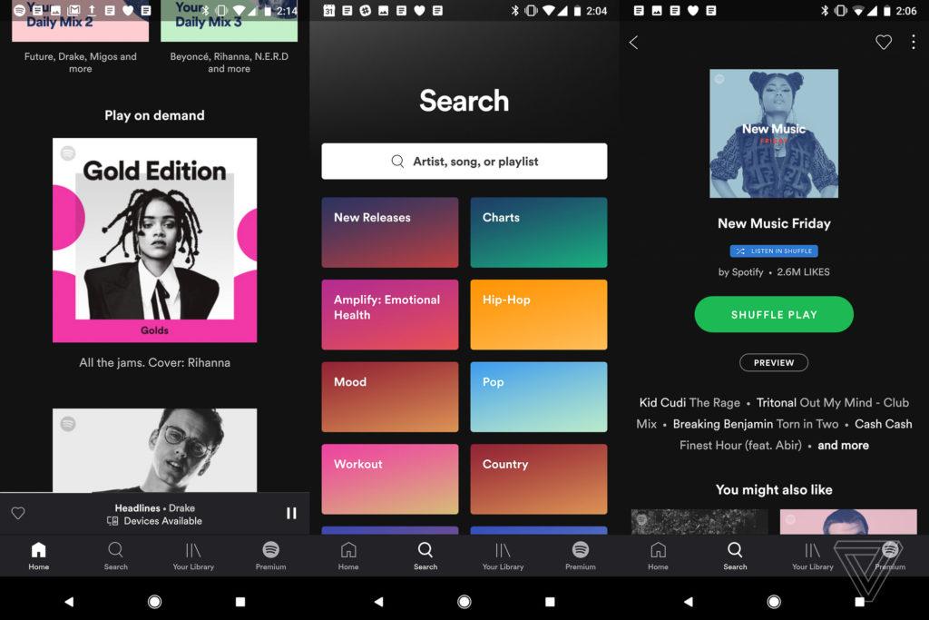 Spotify s'offre un nouveau design