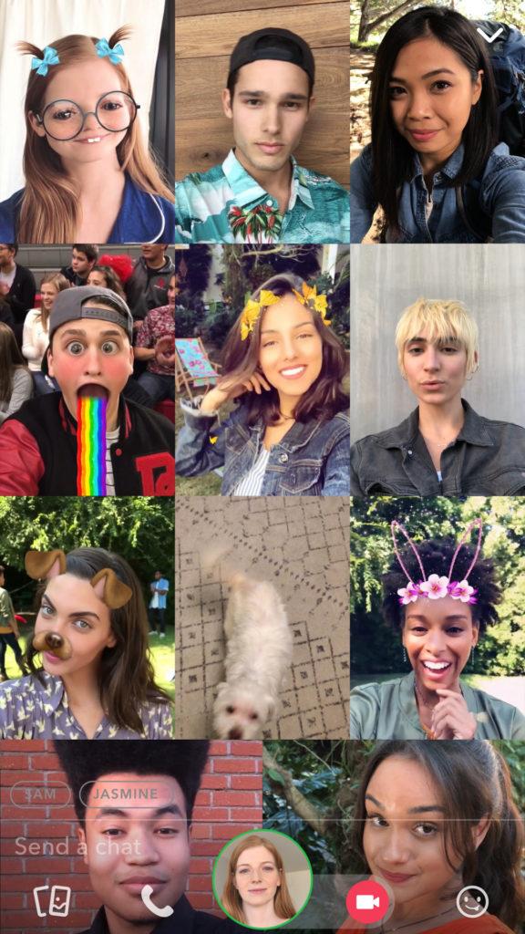 Snapchat lance les appels vidéos de groupe