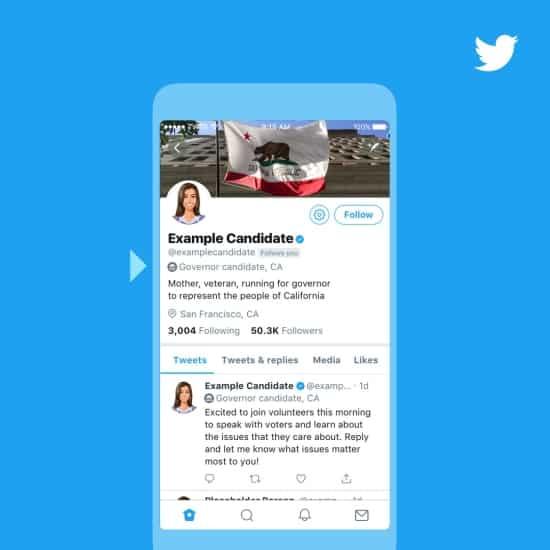 publicités politiques Twitter