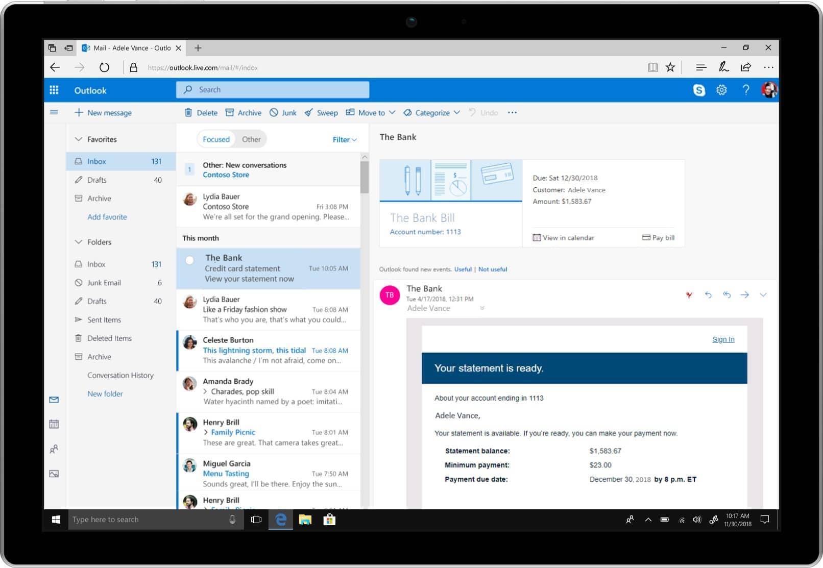Microsoft s'inspire du renouveau de Gmail pour offrir de nouvelles fonctionnalités à Outlook