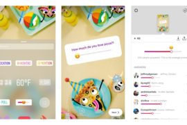 Les emojis débarquent dans les sondages Instagram Stories