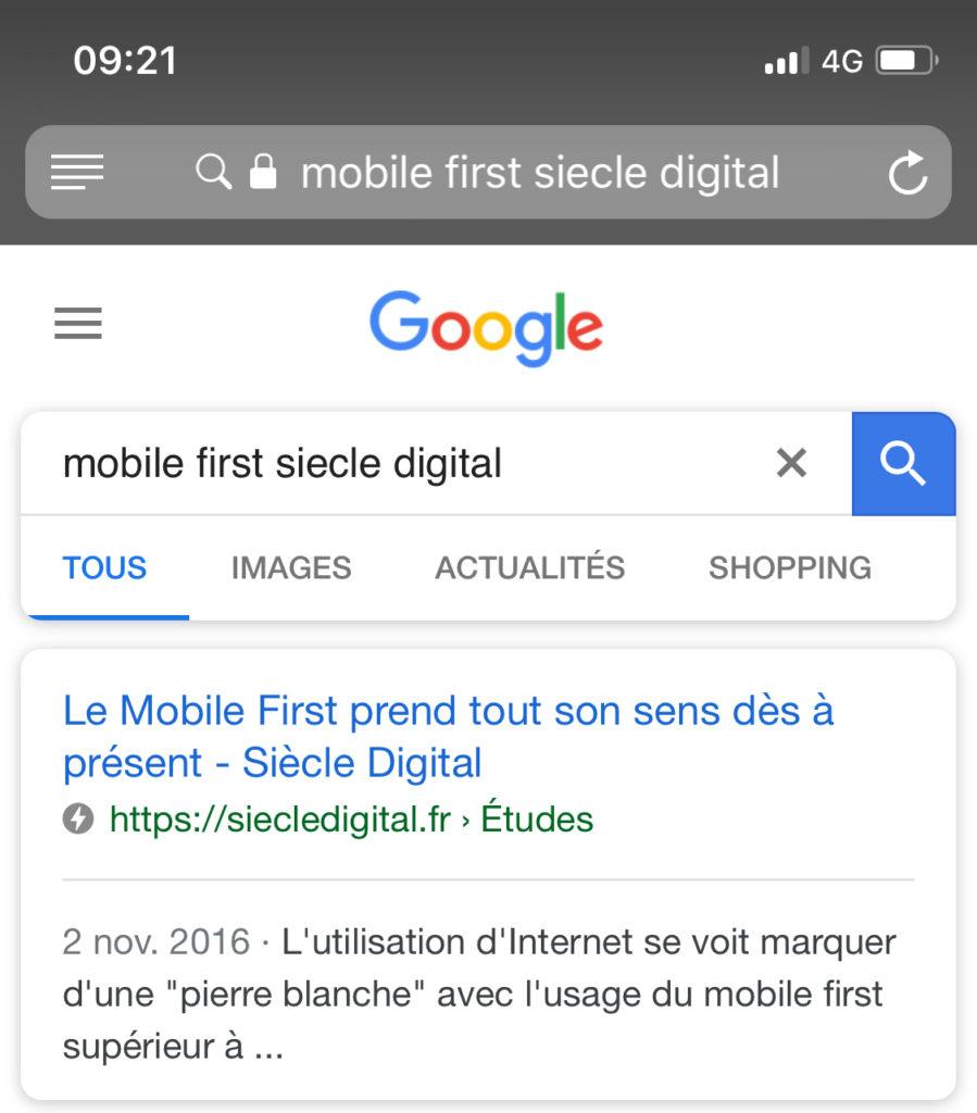 aperçu format amp sur google