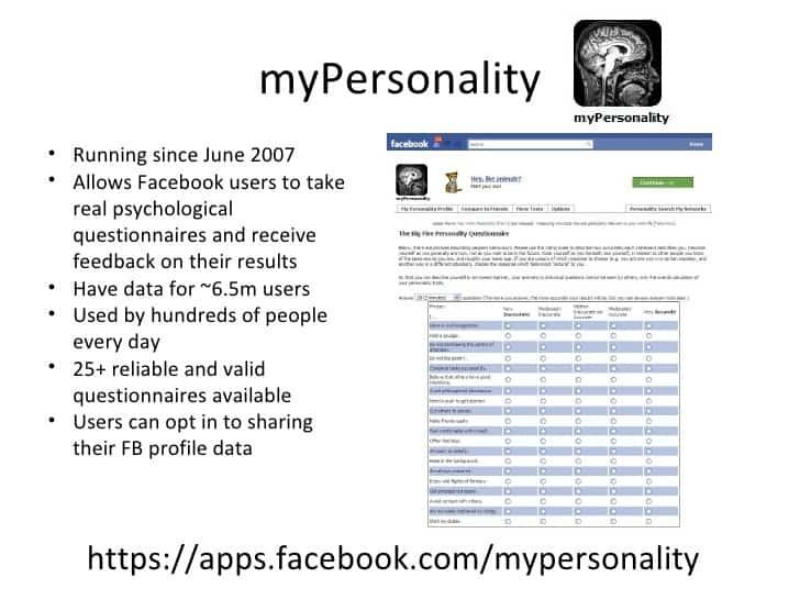 Facebook bannit l'app MyPersonality et des centaines d'autres