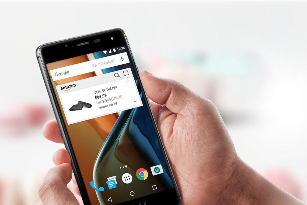 publicite smartphone amazon