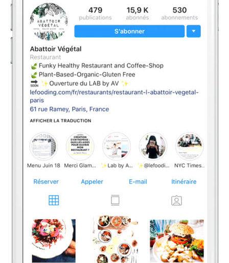 Instagram s'associe à LaFourchette, pour vous permettre de réserver une table au restaurant