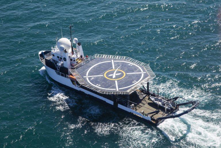 SpaceX a conçu un bateau exprès pour l'atterrissage de ses capsules.