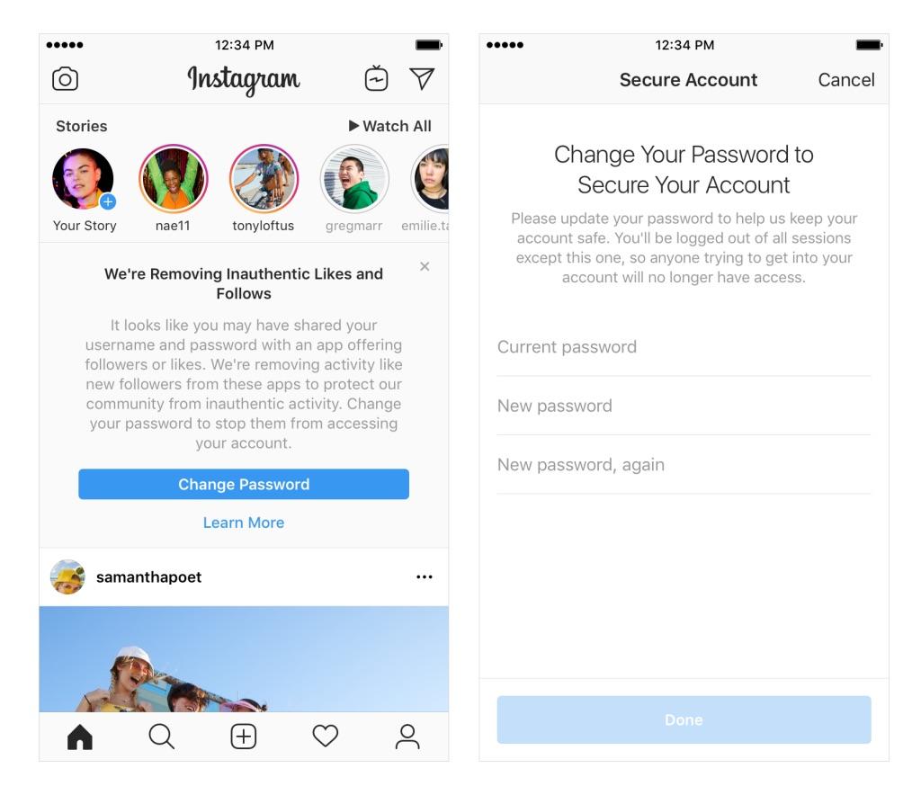 Instagram renforce sa lutte contre les faux comptes et faux likes