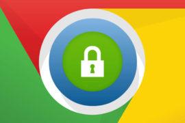 cadenas sur le logo google Chrome